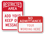Custom Authorized Personnel Only Signs