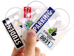 Custom Parking Permit with Suction Cups