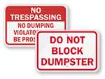 Do Not Block Dumpster