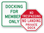 Dock and Pier Signs