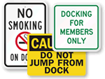 Dock Signs & Pier Signs