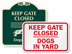 Dog Gate Signs
