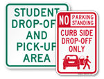Drop Off Signs
