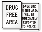 Drug-Free Area Signs