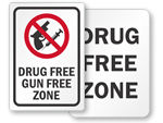 Drug-Free School Signs