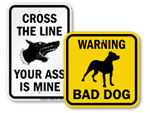 """Edgy"" Beware of Dog Signs"