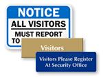 Visitors Entrance Signs