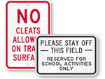 Field Safety Signs