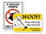 Humorous Dog Poop Signs