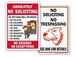 Funny No Soliciting Signs