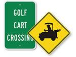 Golf Cart Signs