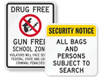 Gun-Free Safety Signs