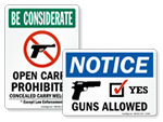Guns Welcome Signs | Guns Allowed Signs
