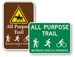 Hiking Trail Signs