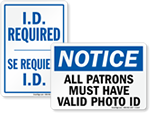 ID Required Signs