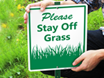 Keep Off Grass LawnBoss® Signs