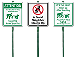 LawnBoss® Dog Poop Signs