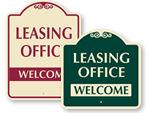 Designer Leasing Office Signs
