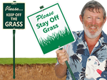 More Keep off the Grass Signs