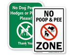 No Dog Peeing on Fence Signs