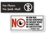 No Flyers Signs