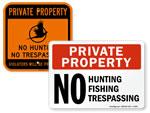 No Hunting Trespassing Signs
