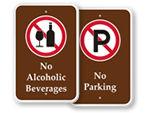 Park Prohibition Signs