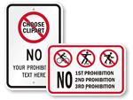 Custom No Skateboard Signs