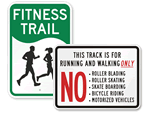 No Skateboarding On Track Signs
