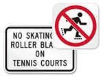 No Skating Signs