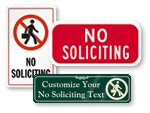 No Soliciting Door Signs