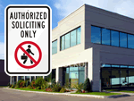 No Soliciting Signs