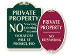 Designer No Trespassing Signs