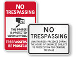 No Trespassing School Signs