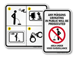 No Urinating in Public Signs