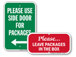 Package Delivery Signs