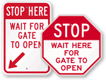 Gate Stop Signs