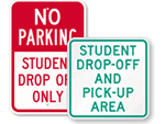 Drop Off and Pick Up Signs