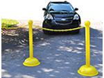 Plastic Stanchions for Parking Lots