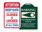 Playground Warning Signs