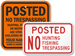 Posted No Trespassing Signs