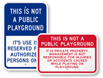 Private Playground Signs