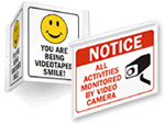 Projecting Surveillance Signs