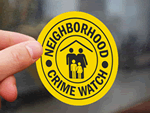 Safe Home and Community Watch Stickers