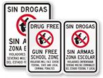 Bilingual School Signs