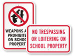 School Property Signs