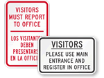 School Visitors Signs