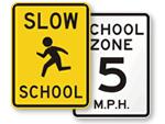 School Traffc Zone Signs