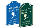 Custom PermaCarve Security Signs