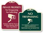 Decorative Video Surveillance Signs